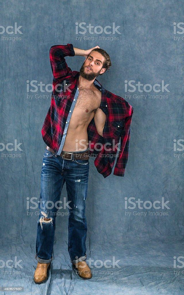 Metrosexual out lumberjack in