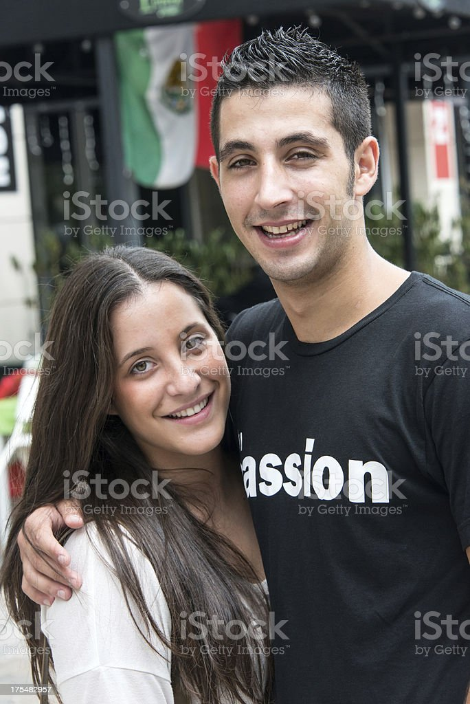 Young Mexican couple royalty-free stock photo