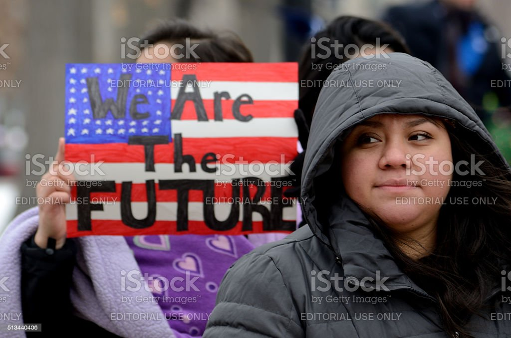 Young Mexican immigrants stock photo
