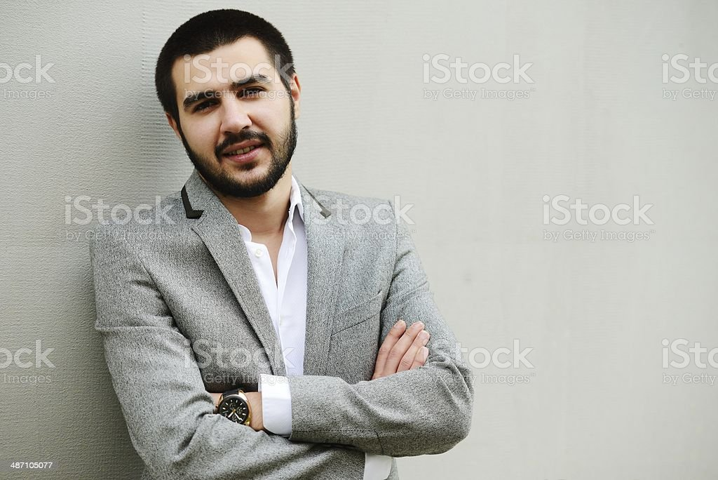 Young Middle eastern attractive male model posing stock photo