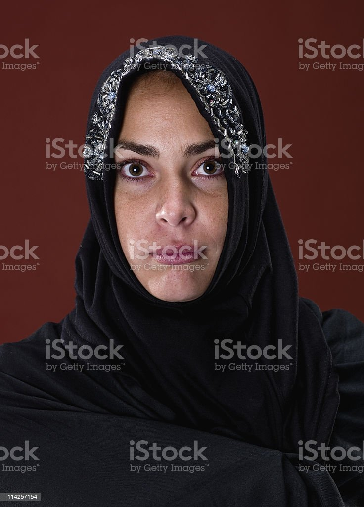 young middle eastern woman royalty-free stock photo