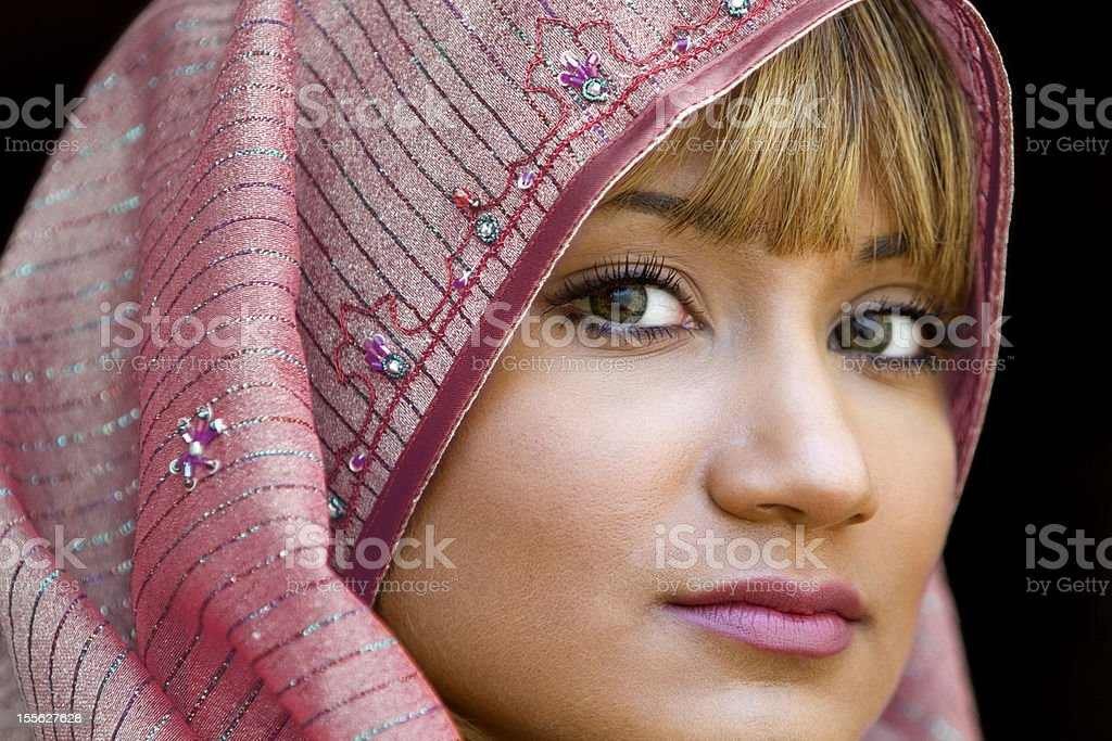 Young Middle Eastern Woman Wearing Head Scarf royalty-free stock photo