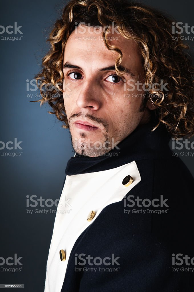 Young militar portrait. royalty-free stock photo
