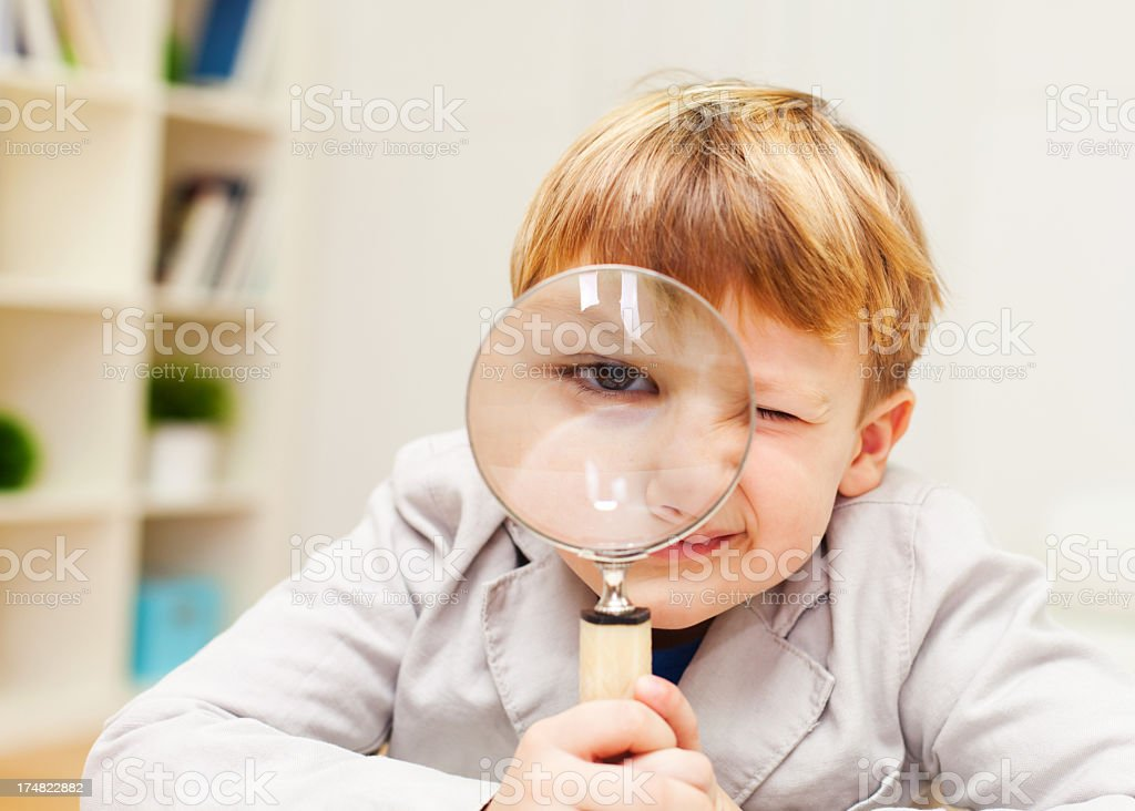 Young mind exploring royalty-free stock photo