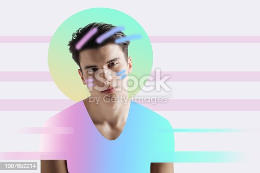 istock Young model feeling bored while waiting for a photographer 1007652214