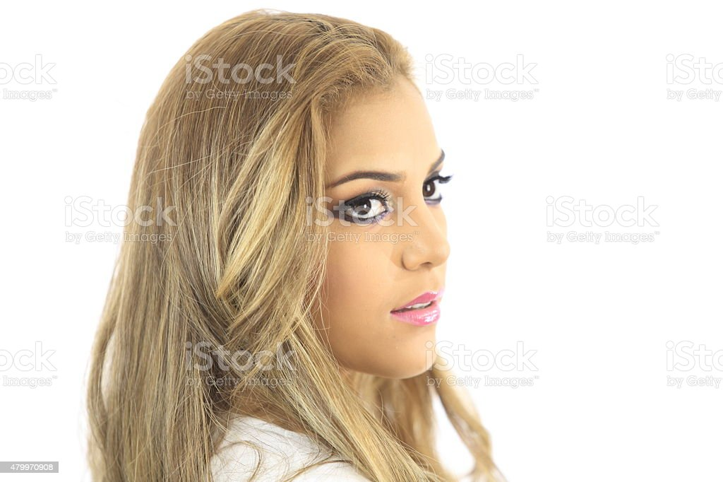 Young Models Closeup Looking Over Right Shoulder Stock Photo Download Image Now Istock