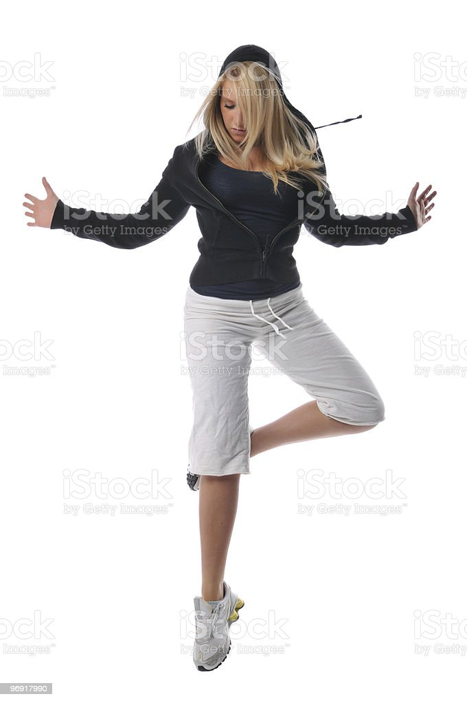 Young modern hip hop dancer royalty-free stock photo