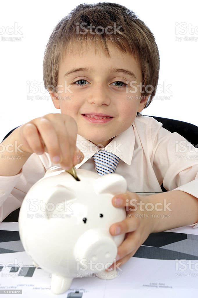 Young money saver. royalty-free stock photo
