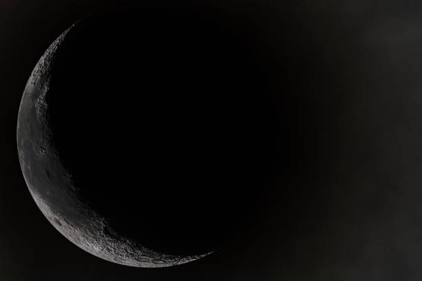 Young moon Young moon midnight stock pictures, royalty-free photos & images