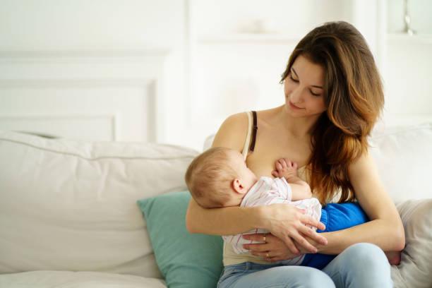 young mother breastfeeding her little son - amamentação imagens e fotografias de stock