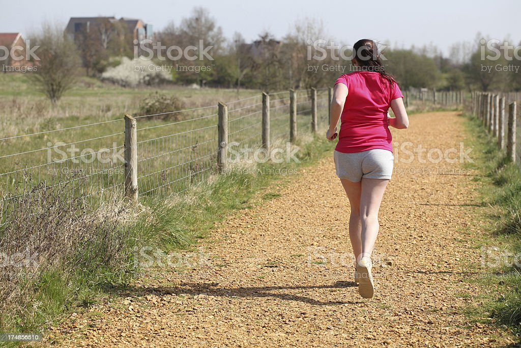 Young Mother Jogging for exercise royalty-free stock photo