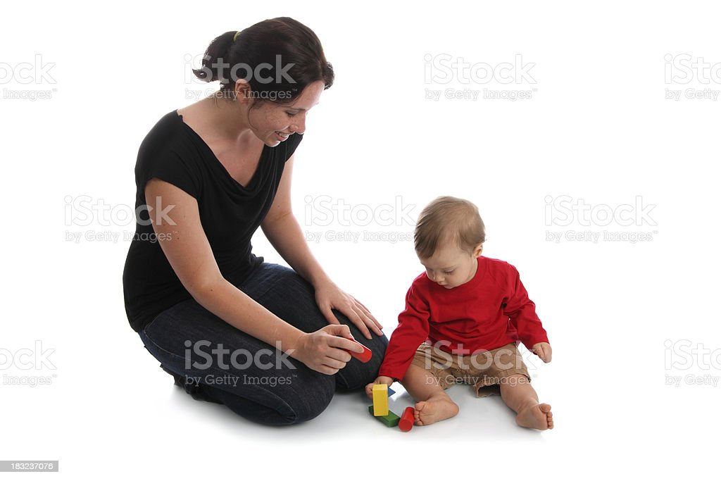 Young Mother Playing with Child royalty-free stock photo