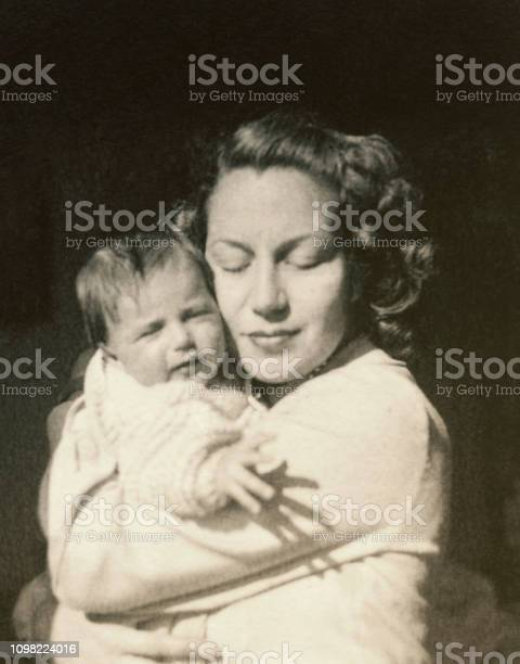 Young mother with her baby in 1948 picture id1098224016?b=1&k=6&m=1098224016&s=612x612&h=fgtwh63yczw25dhow2naq2vkxn3m wlblknqa0rkpds=
