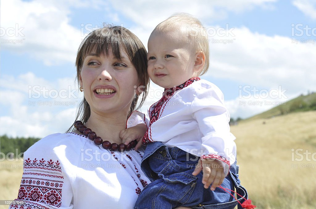 Young Mother with her child royalty-free stock photo