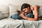 Young mother  spend time with her daughter
