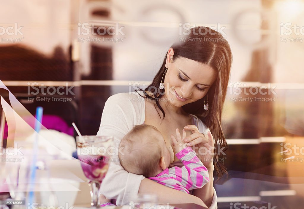 Young mother with her daughter stock photo