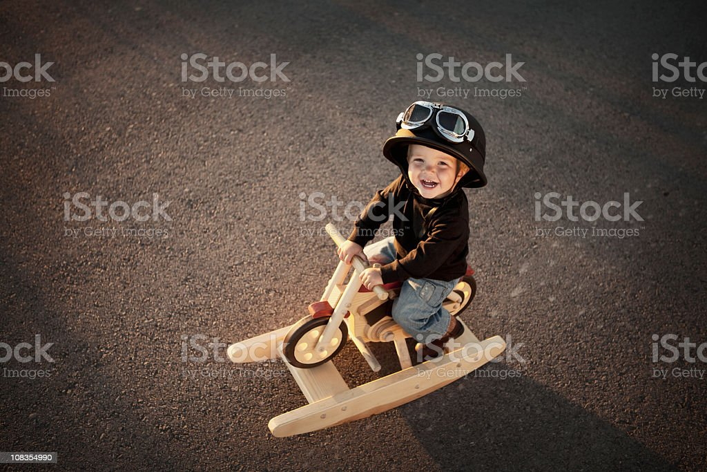 Young Motorcycle Rider royalty-free stock photo