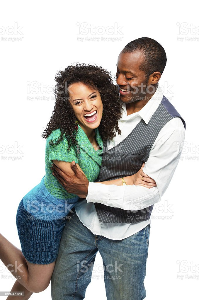 Young Multi-Ethnic Couple Having Fun royalty-free stock photo