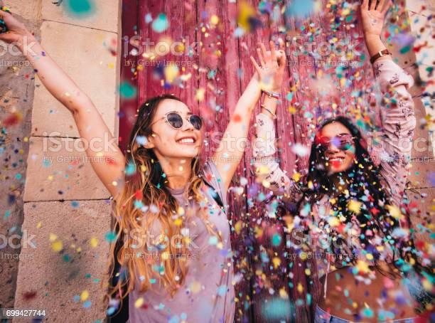 Young multiethnic hipster women celebrating with confetti in the city picture id699427744?b=1&k=6&m=699427744&s=612x612&h=3w1es9plec6edtdtqevlquwl2yt5vbq9chidyzv9cte=