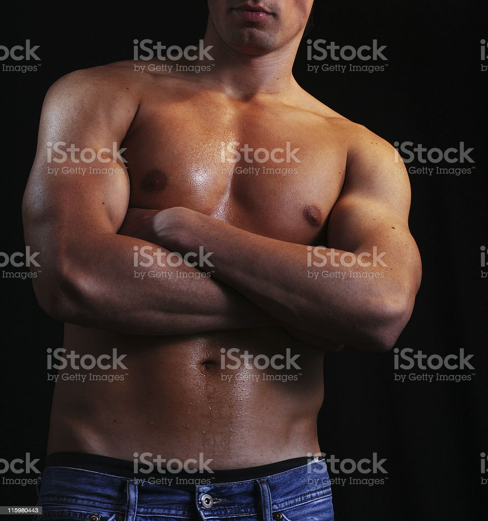Young muscular male body royalty-free stock photo
