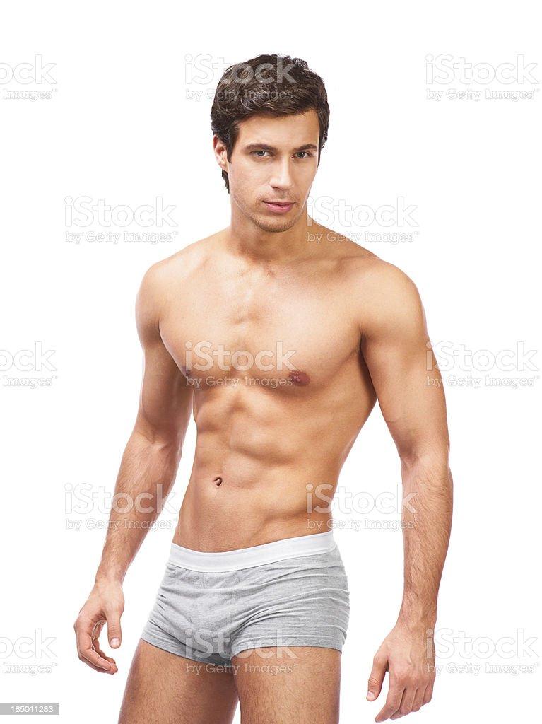 young muscular man stock photo