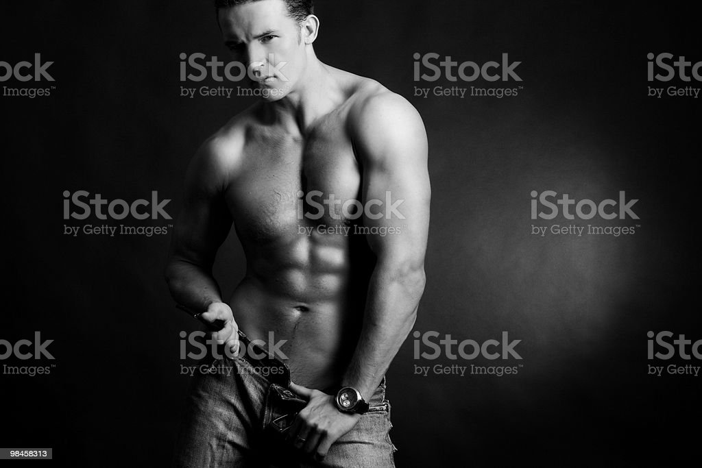 Young muscular man royalty-free stock photo