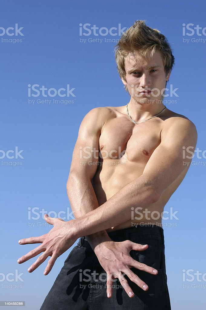 Young Muscular Model royalty-free stock photo