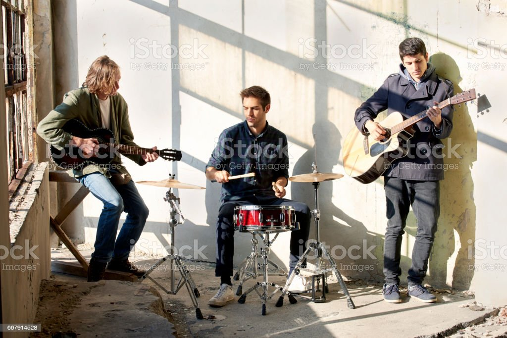Young musicians stock photo