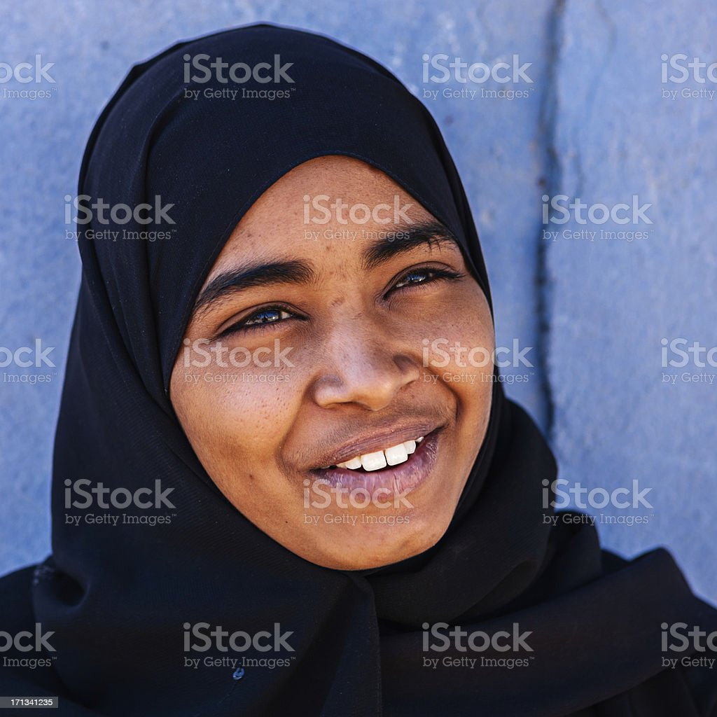 Young Muslim girl in Southern Egypt royalty-free stock photo