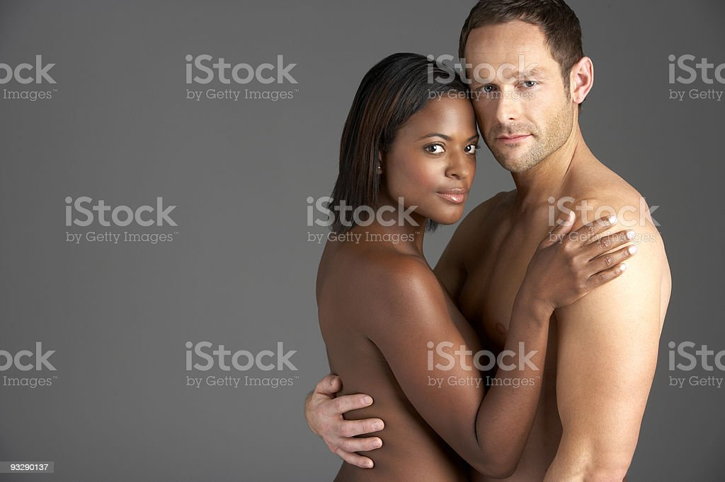 Young Naked Couple Embracing royalty-free stock photo