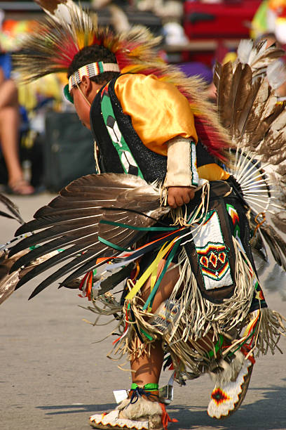 young native american dancer - navajo culture stock photos and pictures