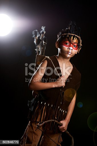 istock Young Native American Warrior 502846770