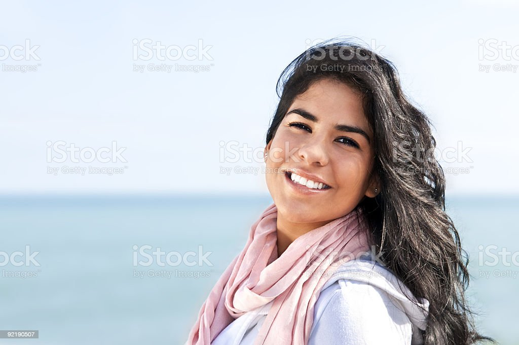 Young native american woman royalty-free stock photo
