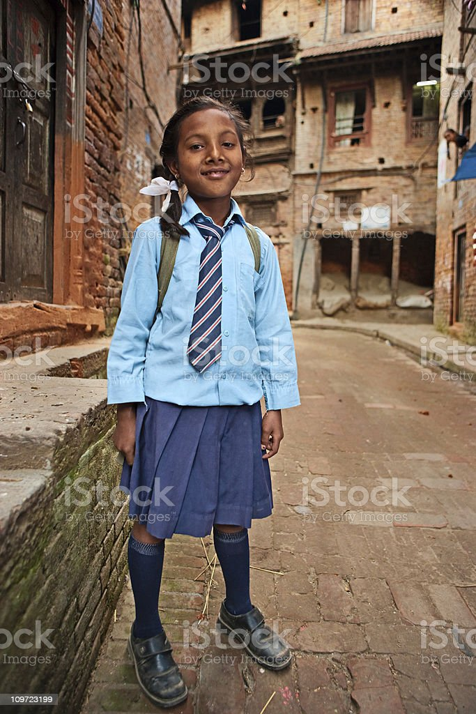 Young nepali girl royalty-free stock photo