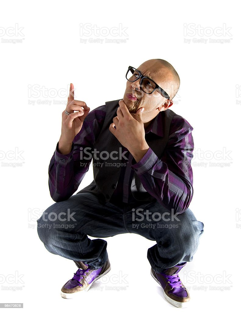 Young nerd royalty-free stock photo
