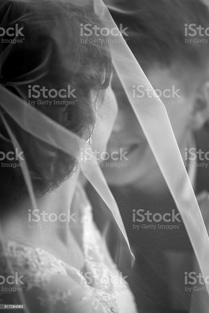 Young newlywed caucasian couple. stock photo
