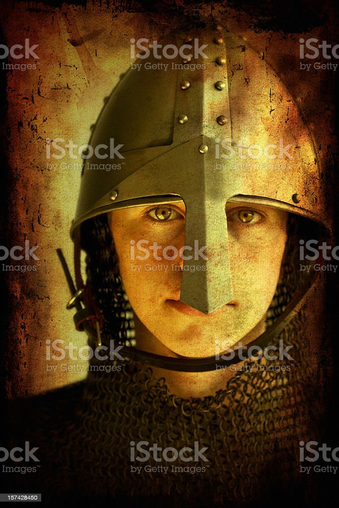 Young Norman Knight stock photo