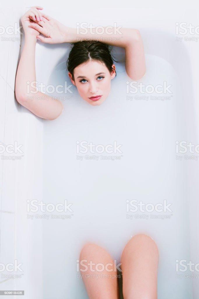 Nude in bath