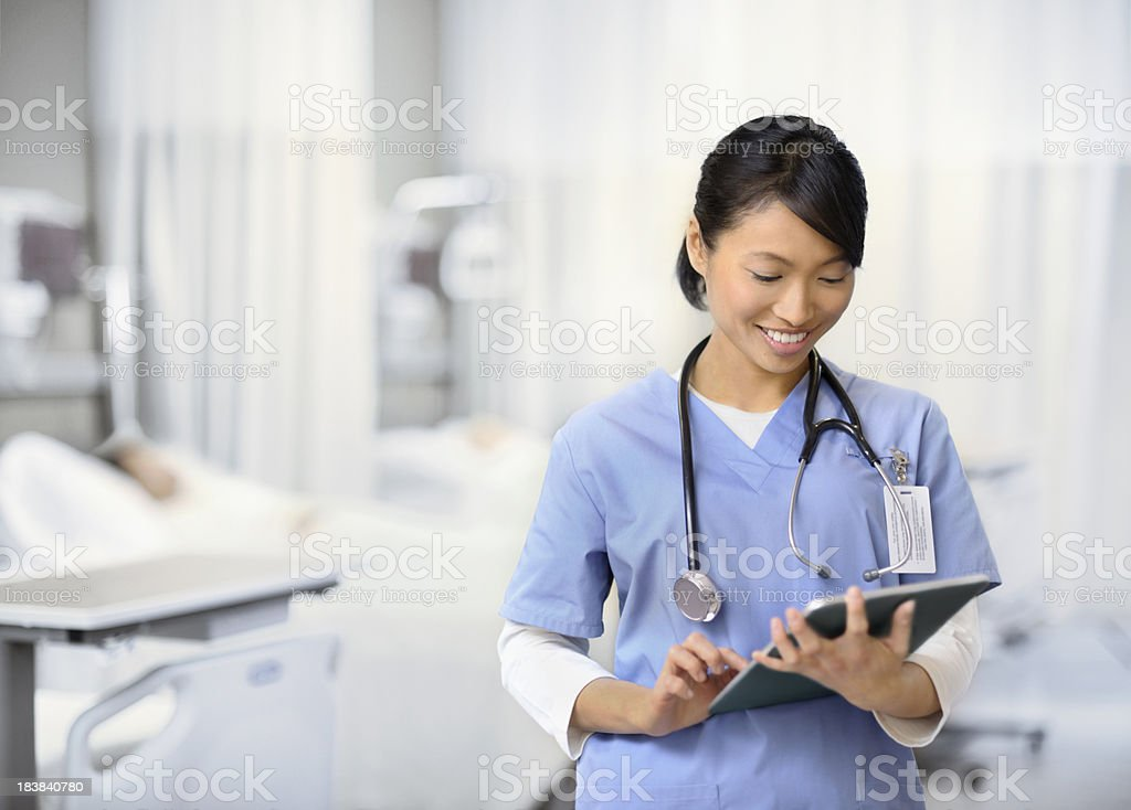 Young Nurse Working stock photo