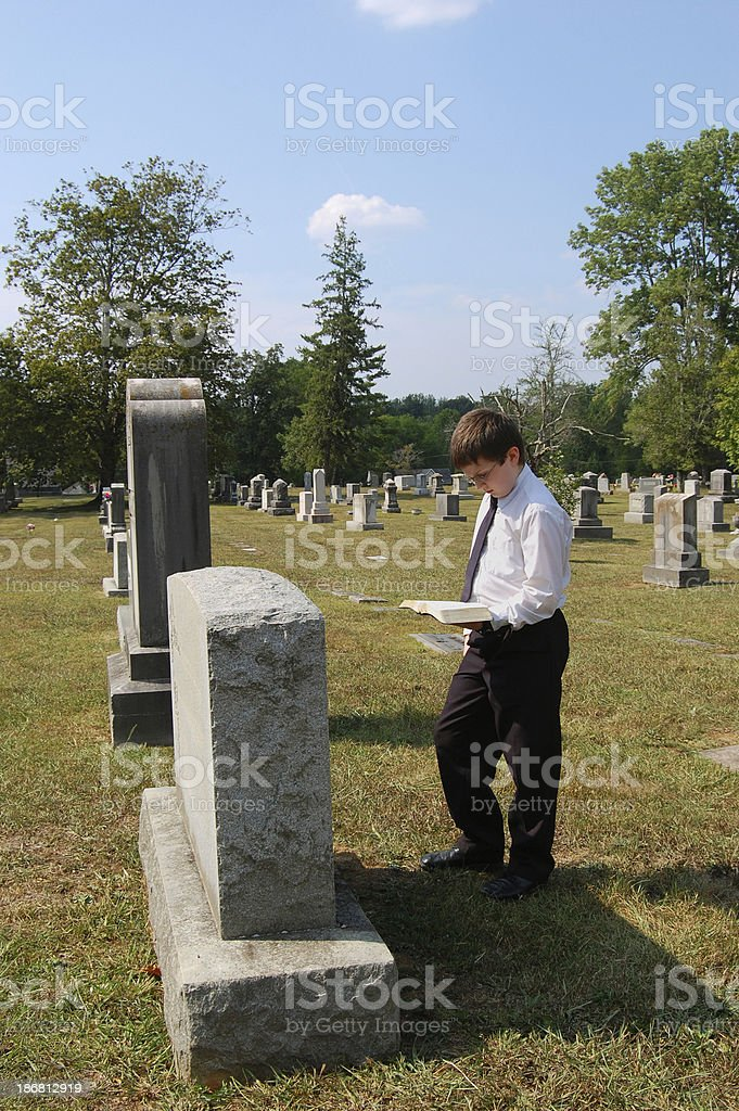 Young One Mourns His Loss stock photo