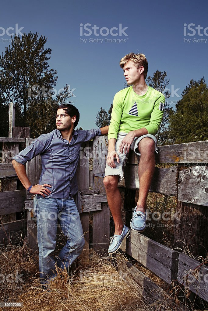 Young Outdoors Men in Rural Environment royalty-free stock photo
