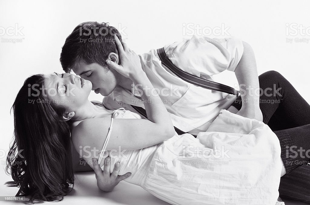 Young Passionate Couple stock photo