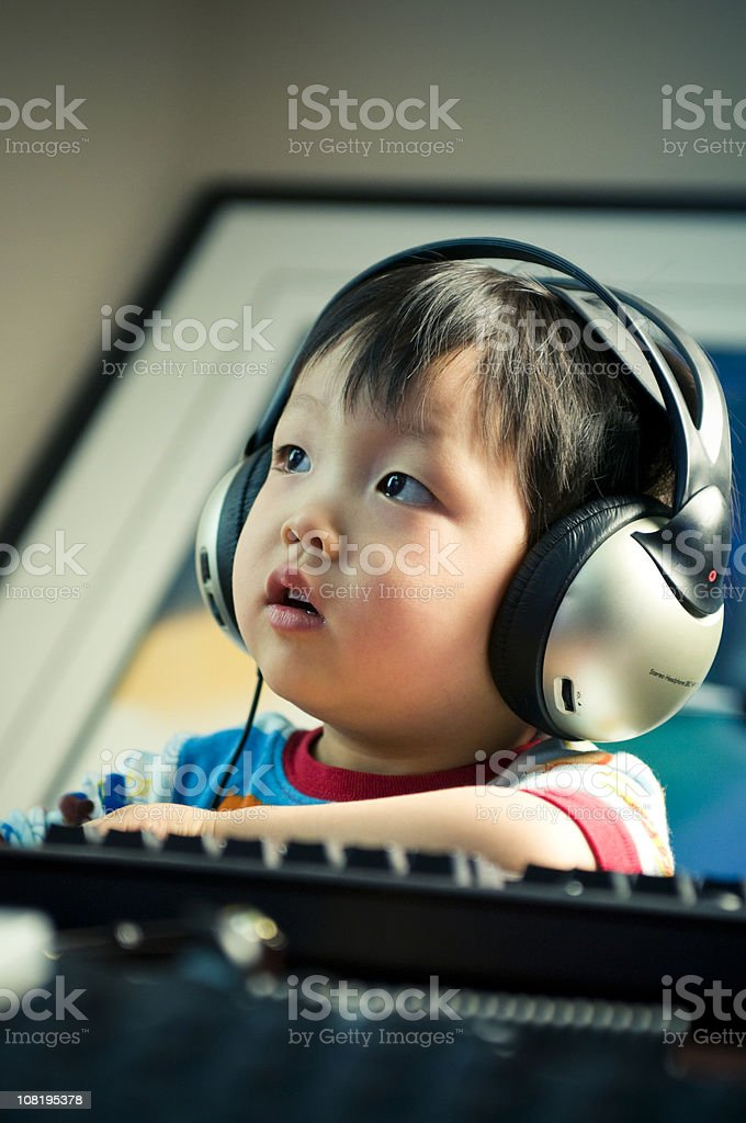 Young PC Gamer royalty-free stock photo