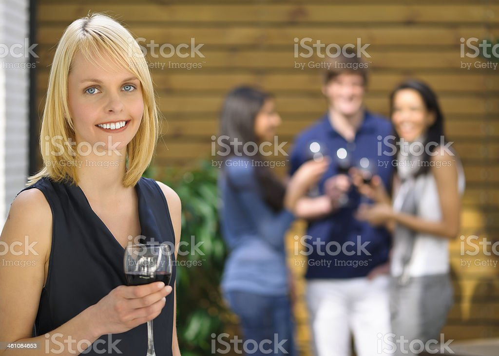 Young people at party royalty-free stock photo