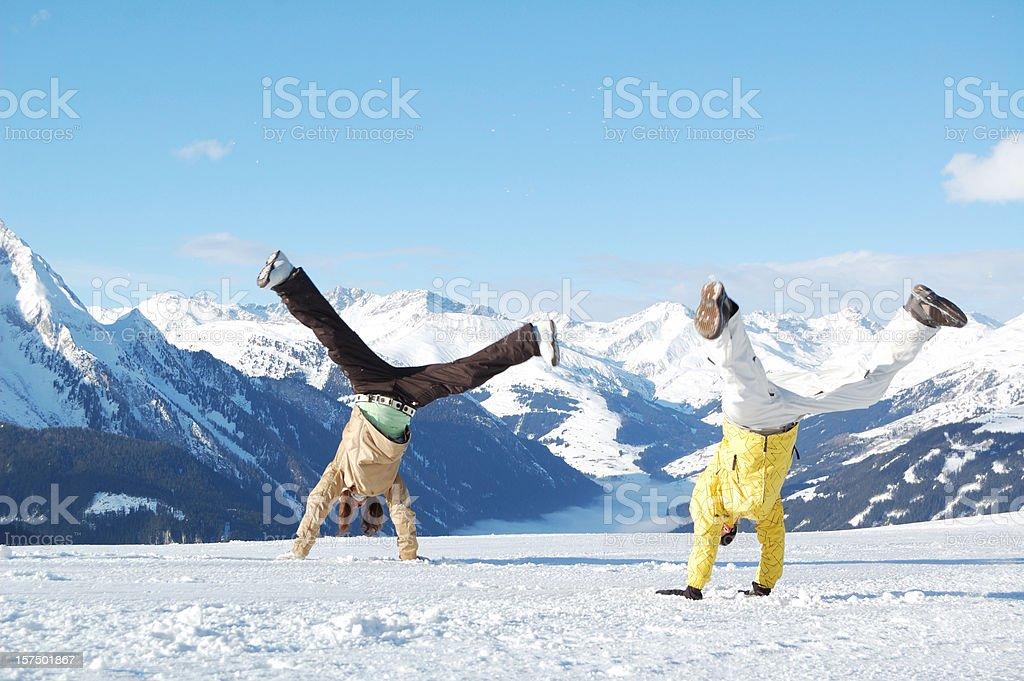 young people at ski resort royalty-free stock photo