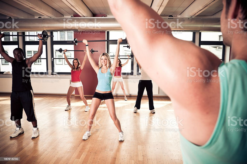 young people at the gym royalty-free stock photo