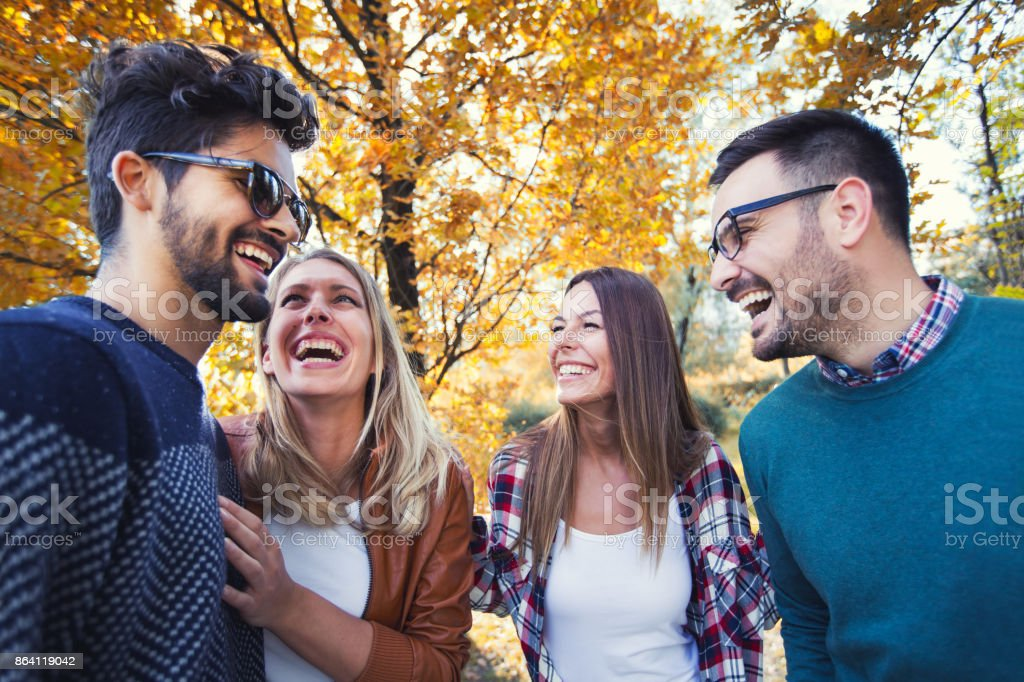 Young people at the park royalty-free stock photo