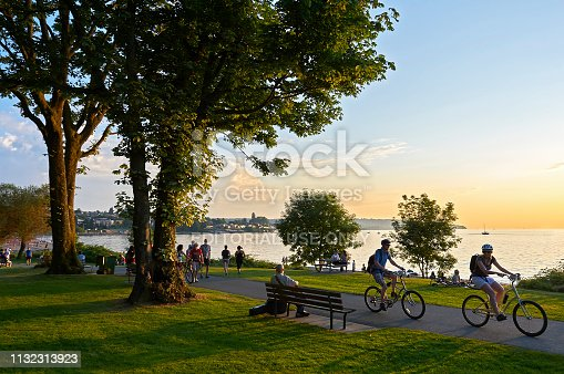istock Young people biking and walking at Stanley Park 1132313923