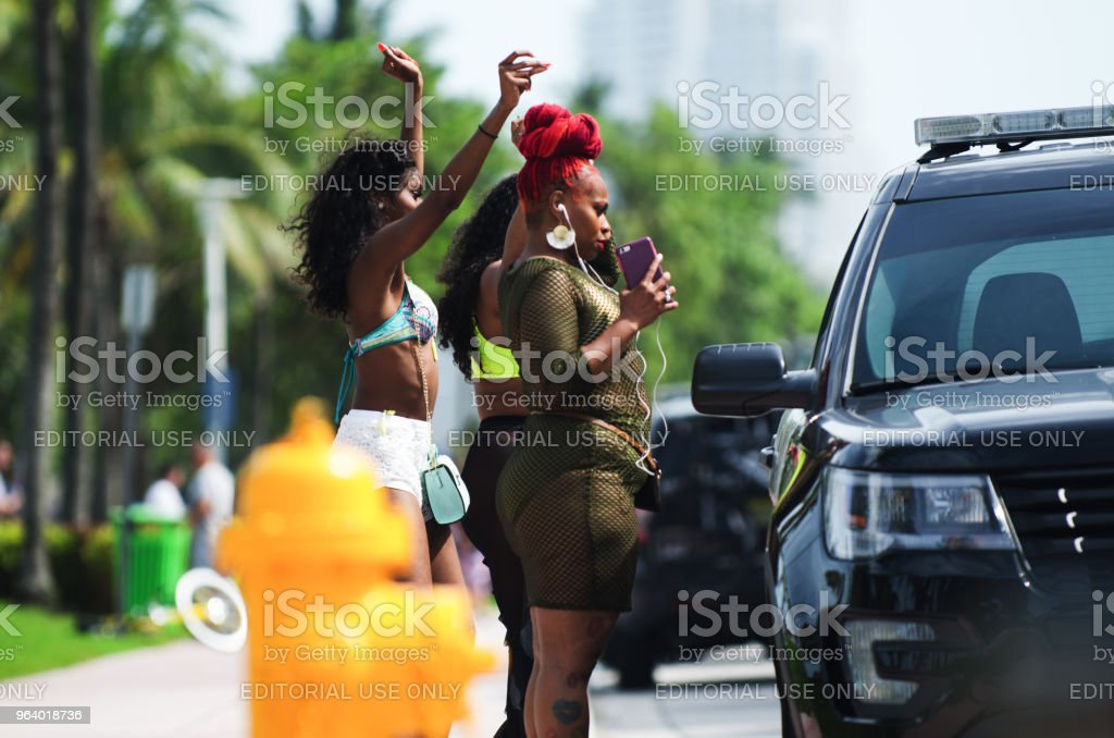 Young People Celebrating Urban Beach Week Miami - Royalty-free Adult Stock Photo