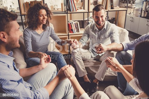 istock Young people communicating 664525302
